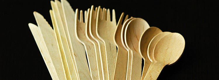 wooden knives, forks, and spoons